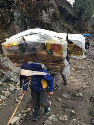 Supplies for the mountain villages...