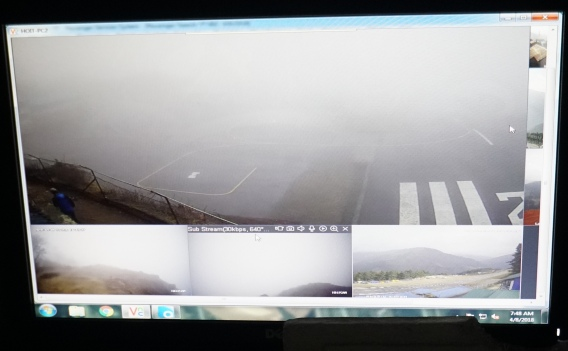 Screen capture of weather at Lukla... not good!